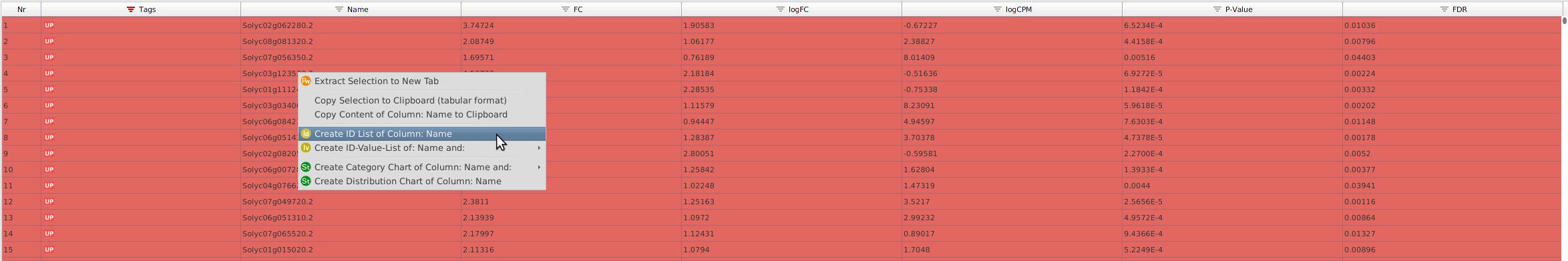 Create ID list in Blast2GO
