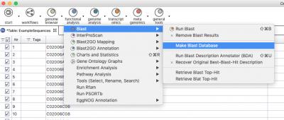 Make Blast Database Menu